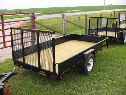 Where to find 5  x 10  Utility Trailer - Black in Castle Rock