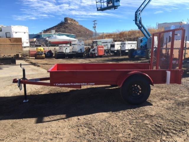 Where to find 5  x 10  Utility Trailer - Red in Castle Rock